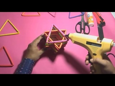 How to Make a Star Pen.Pencil Holder by Paper to Easy Way. PaperCraft#08
