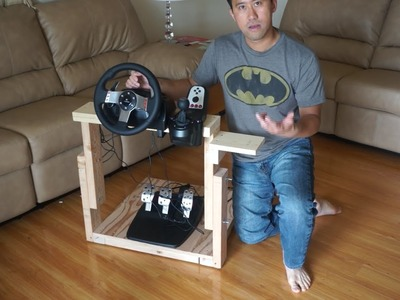 """How to make """"The Best Homemade Logitech G27 Gaming Wheel Stand In The World"""""""