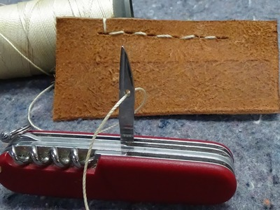 How to Sew with a Swiss Army Knife Awl. Reamer