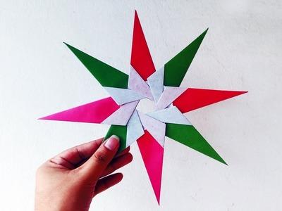 Ninja Star Origami–How to Make Paper Ninja Star War–Origami New Hope Star – Paper Origami Lucky Star
