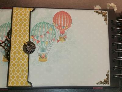 Spread your wings & fly scrapbook mini album tutorial deel 2