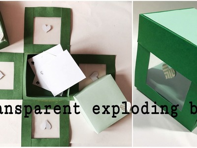 Transparent heart exploding box❤️ | gift ideas | how to | Easy DIY | art and craft |