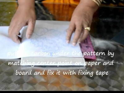 5 - Tracing the object on the painting canvas