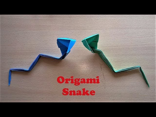 awesome origami snake making how to make origami paper