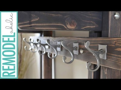 Build a Hall Tree Coat Rack to Tame Entryway Clutter