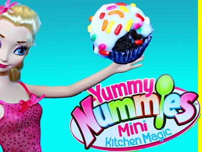 Cupcake Maker with Yummy Nummies Treats for Frozen Elsa & Barbie DisneyCarToys