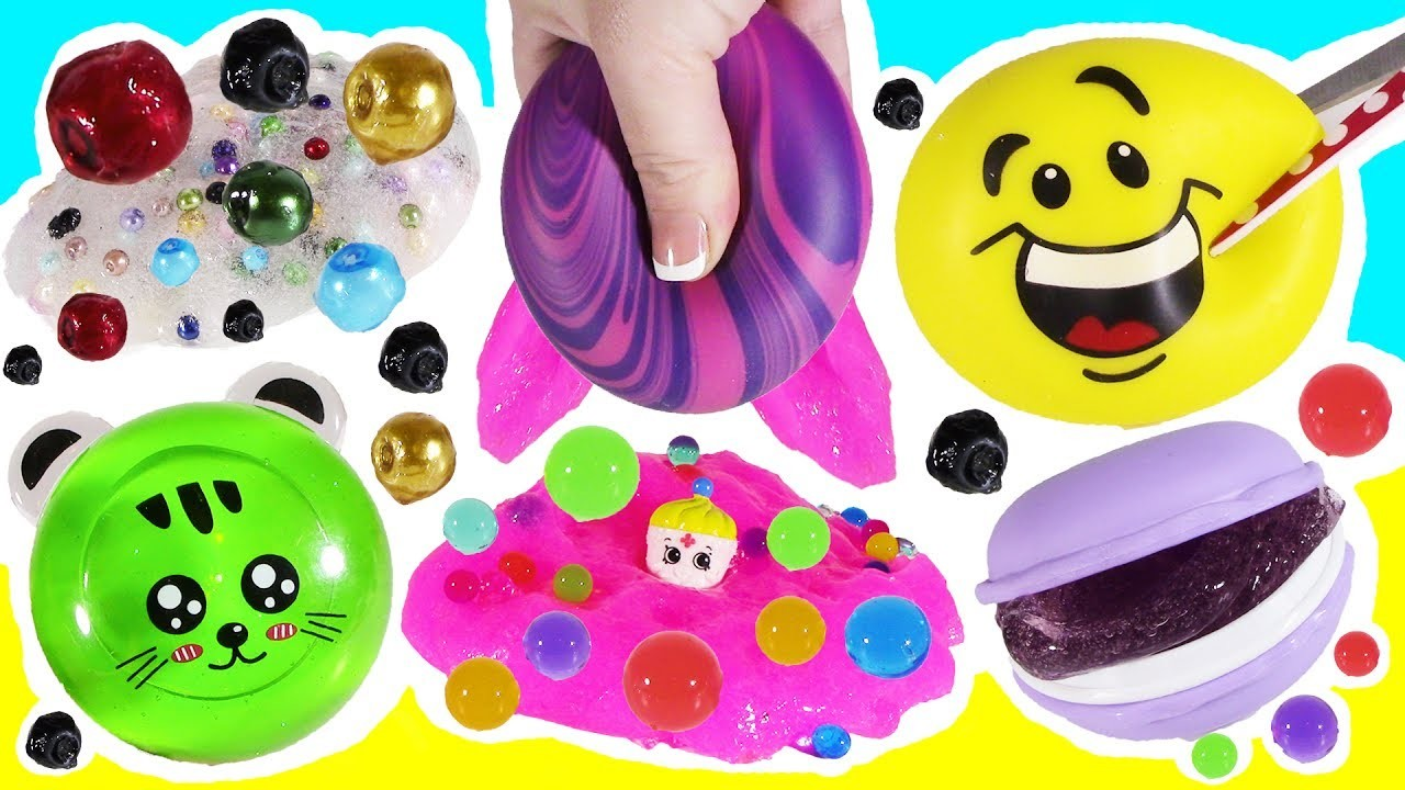 Emoji Squishy Tag : Cutting OPEN Squishy Cream EMOJI! Cookie SLIME! Sticky PEARL STRESS BALL! PANDA Glitter Putty!, My