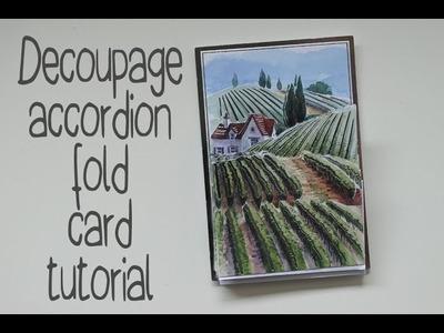 Decoupage Accordion Fold Card Tutorial