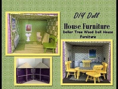 DIY Dollar Tree Wood Dollhouse Miniature Furniture