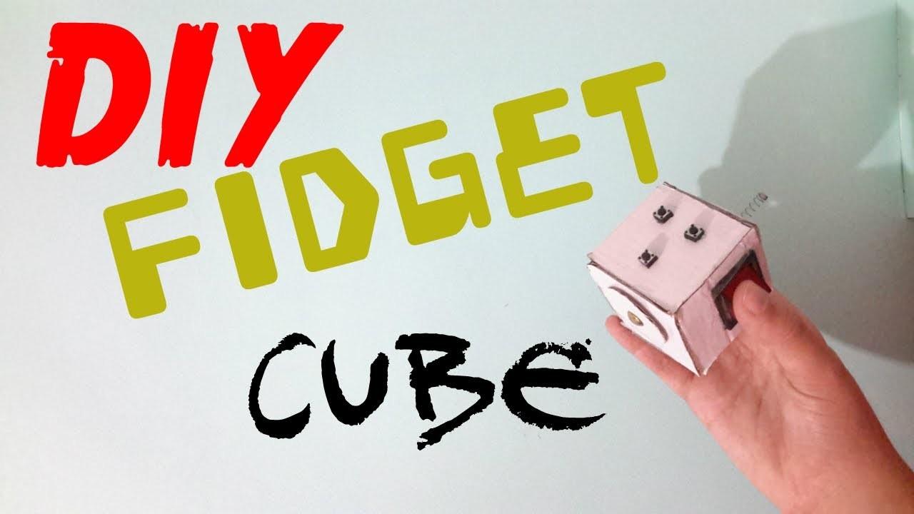DIY Easy FIDGET CUBE With Cardboard NEW VERSION My