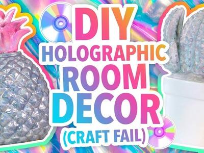 DIY HOLOGRAPHIC ROOM DECOR (CRAFT FAIL) | @karenkavett