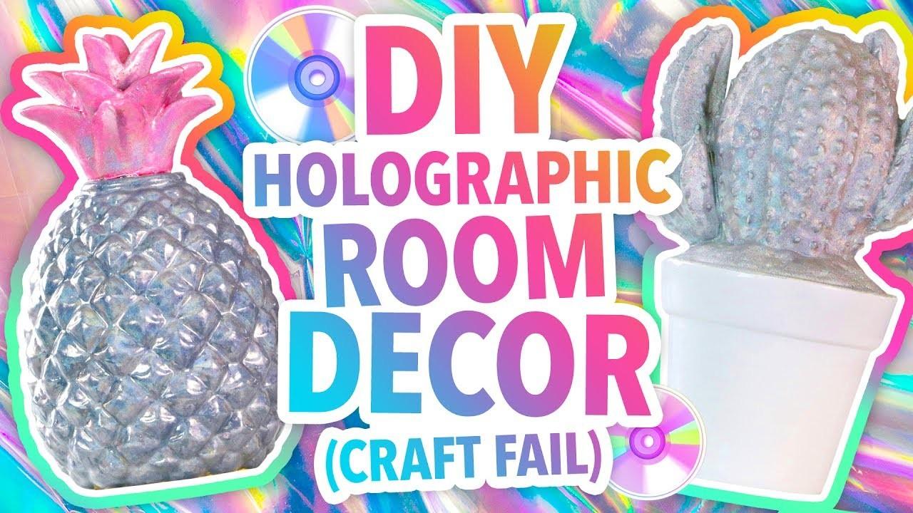 Diy Holographic Room Decor Craft Fail Karenkavett