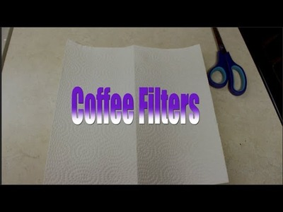 DIY: How to make a coffee filter in 30 SECONDS with paper towel!