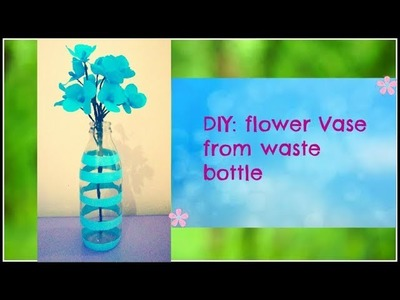DIY:How to make flower vase from glass bottles