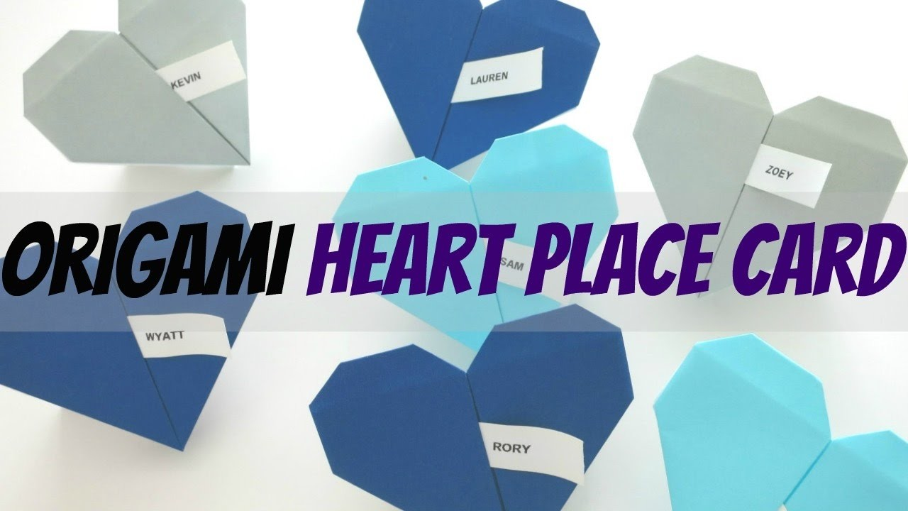 diy origami heart place cards i like diy projects my