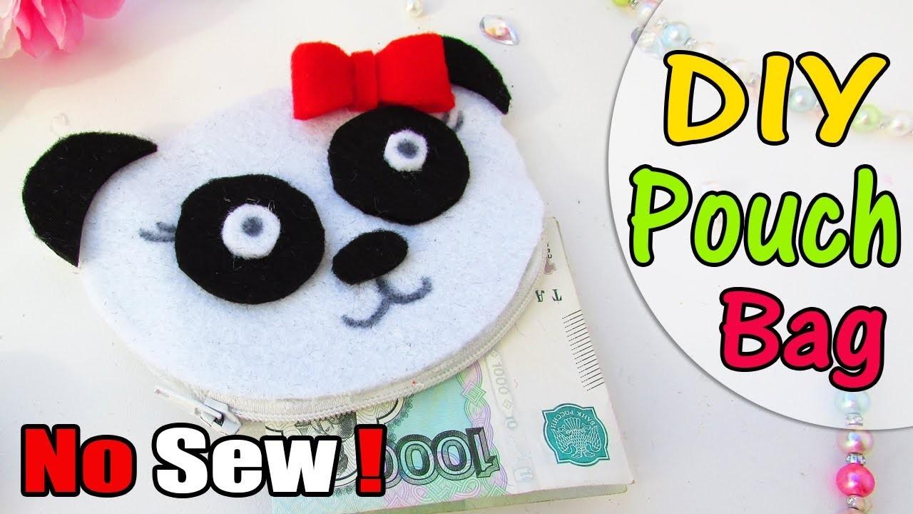 DIY Panda Purse No Sew Easy tutorial