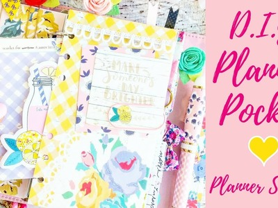DIY Planner Pocket Using The Planner Society Packaging Treat Bag