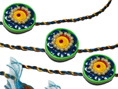 DIY Quilling Made Easy : How to make Paper Quilling 'Rakhi' - Raksha Bandhan -Paper Art