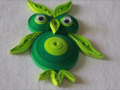 Easy DIY Quilled Paper Owl Pendant!