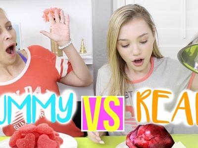 Gummy vs Real Food Challenge! ft. Mom | Sasha Morga