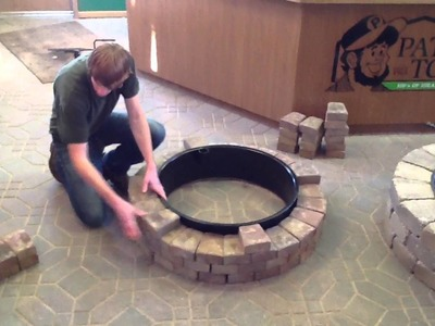 How to build a fire pit.fire ring