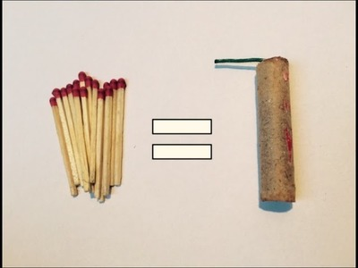 How to build a firecracker with matches !