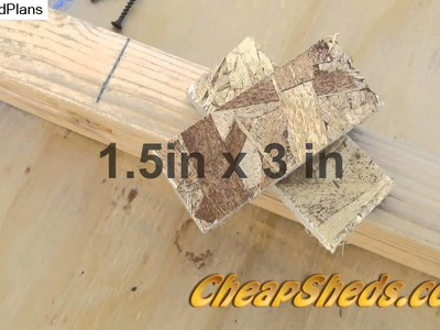 How To Build Barn Style Shed Roof Trusses