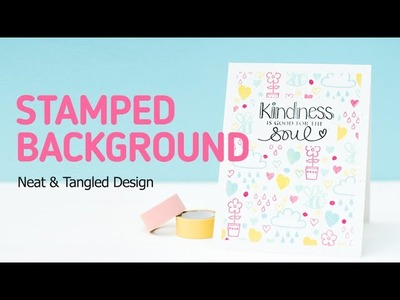 How to Create a Stamped Background with Small Stamps