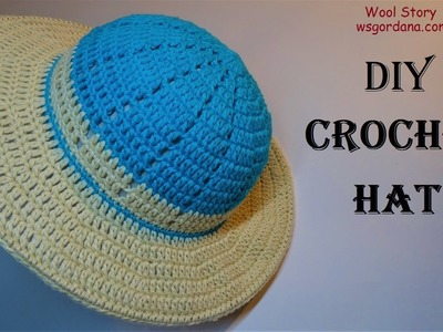 How to Crochet a Summer Hat for Beginners (Heklani šešir)