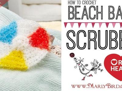 How to Crochet Beach Ball Scrubby