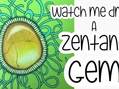 How to draw a Zentangle Gemstone - Vol. 2