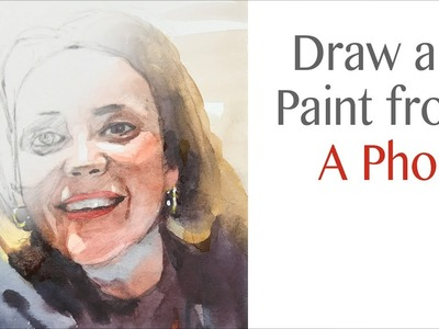 How to draw and paint a portrait from a phone