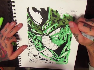 HOW TO DRAW - Cell from DBZ