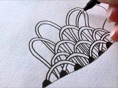 How to draw tanglepattern Floatfest