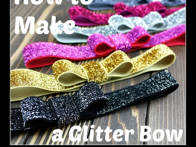 How to Make a Glitter Bow Headband - Hairbow Supplies, Etc.