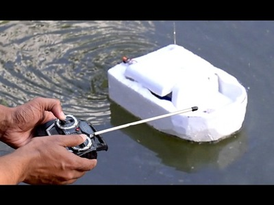 How to Make a Remote Control Boat (Very Easy) | HOW TO MAKE A BOAT
