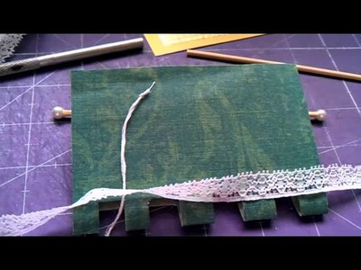How to make a roller blind for your 1.12 scale dolls house