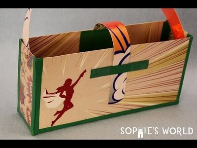 How to Make a Scrapbook Paper and Packing Tape Fabric Bag | Sophie's World