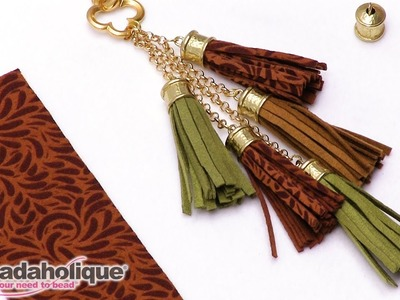 How to Make a Tassel using Ultra Suede Fabric Strips