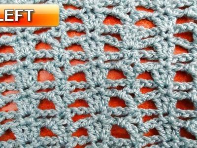 Little Lace Crochet Stitch - Left Handed Crochet Tutorial
