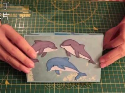 巧。手做卡片(Make Cards with Chiao)-海豚雙雨刷卡教學(Dolphins Double Wiper Card Tutorial)