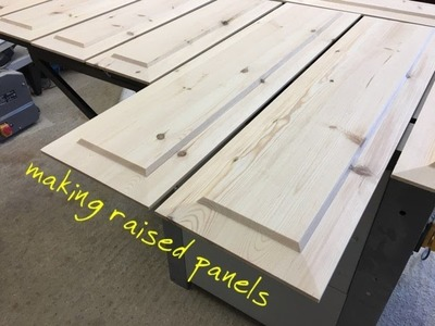 Making raised panels on the table saw.