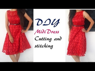 Midi dress Cutting And Stitching Full Tutorial by PN'z World