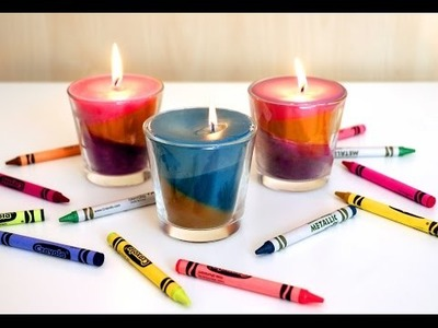 Motley and beautiful: Making candles from crayons
