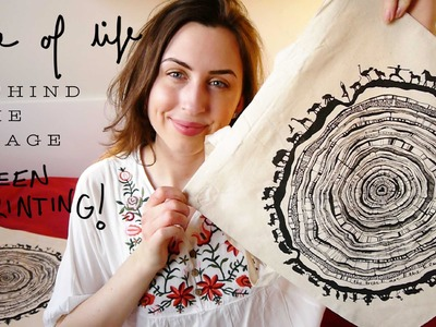 Rings of Life - Behind the image, Screen printing tote bags!