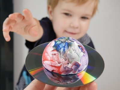 Saturn - CD Craft Ideas For Kids
