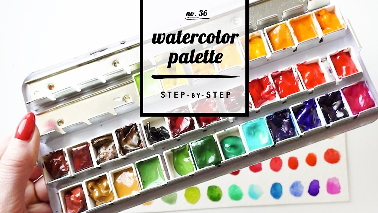 setting up a new watercolor palette step by step. Black Bedroom Furniture Sets. Home Design Ideas