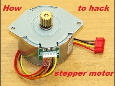 Simple best life hack run a 12v~ stepper motor without a driver