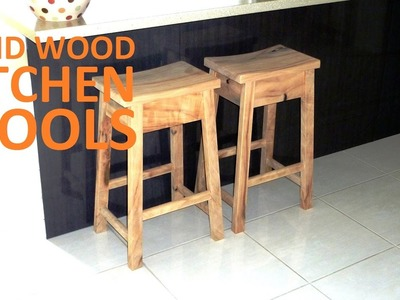 Solid Wood Kitchen Stools - How-to | Covewood Creations