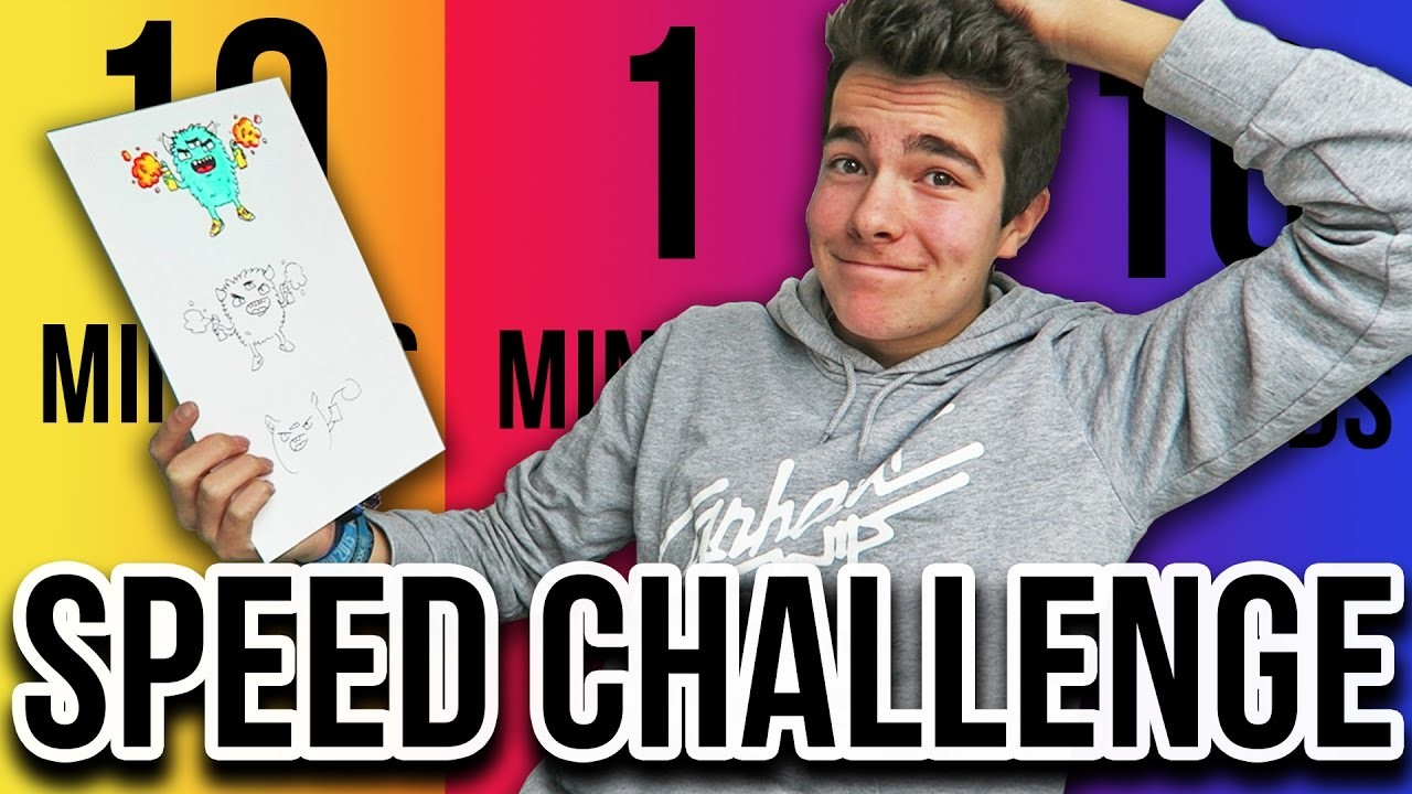 SPEED CHALLENGE !! | 10 minutes. 1 minute. 10 seconds  (Doodle Edition)